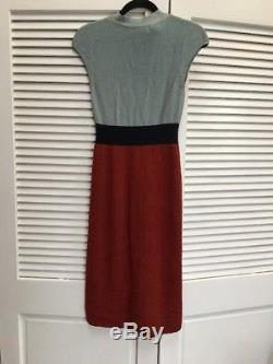 Nwt Anthropologie Charlie Robin Tie Neck Colorblock Robe Pull Xs Mad Men