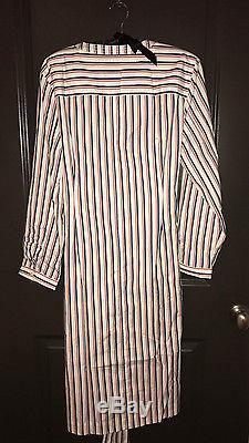Nwt J Crew Thomas Mason Stripe Cravate Taille Chemise Shirtdress Robe Jules Teddie 14