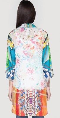 Nwt Johnny Was Sz XL - Cardigan À Imprimé Kimono Avec Imprimé Rayonne