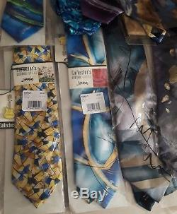 Nwt Lot De 22 J Garcia Jerry Garcia Grateful Dead Colliers Collecteurs Lot + Pins