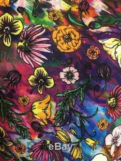 Nwt Lularoe L Grande Amélie Aquarelle Tie-dye Fleur Floral Coloré Unicorn