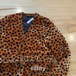 Nwt Madewell Velours Veste Matelassée Wrap Leopard Dot Petit 248 $