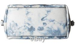 Nwt Rebecca Minkoff Blue Tie Dye Cuir Clouté Micro Moto Satchel