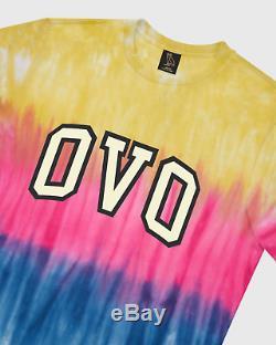 Ovo Drake Octobres Très Propre Tie Dye Arc T-shirt Multi Med Sold Out