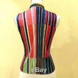 Pleats Please Blouse À Nœud Papillon Issei Miyake Multicolore Taille 3 I8568i8n