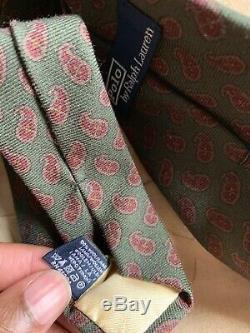 Polo, Drakes Et Isaia 7 Fold Tie Lot! Laine, Soie