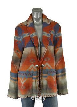 Polo Ralph Lauren Femmes Sud-ouest Indien Concho Manteau Veste En Laine Vierge 698 $