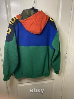 Polo Ralph Lauren Sportsman Green Polar Fleece Anorak Pullover Mens Large T.n.-o.