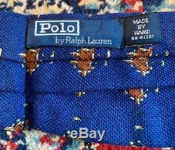 Ralph Lauren Ascot Polo Fait À La Main Étiquette Fête De Vacances Renard Formel Millésime 1992