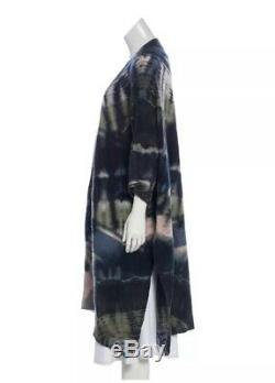 Raquel Allegra Laine / Cachemire Tie Dye Ouvert Avant Châle Cardigan