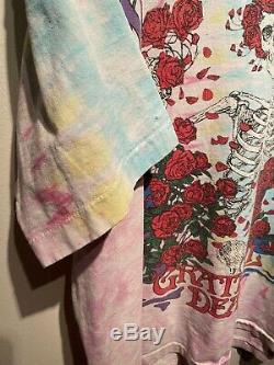 Rare Vintage 1990 Grateful Dead Wagon Wheel Brockum Tie Dye T-shirt Taille XL
