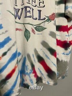 Rare Vintage 1995 Grateful Dead Fare Thee Well Tie Dye Tour T-shirt Taille XL Dead