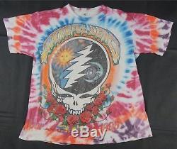 Rare Vtg Grateful Dead 1995 Tour D'été 30 Ans Tie Dye T Shirt Années 90 Garcia Osfa