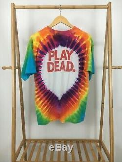 Rare Vtg Grateful Dead Bears Dans La Forêt Play Dead Tie-dye T-shirt Taille XL USA