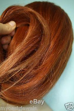 Remy Sans Colle Pleine Dentelle Pu Perruque Cheveux Humains Indiens Main Attachée Auburn Blonde MIX