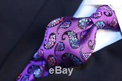 Robert Talbott Cravate Paisley Multicolore Violet