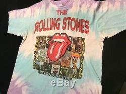 Rolling Stones Vintage Voodoo Lounge 1994 World Tour Chemise Vintage Tie Dye XXL