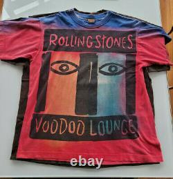 Rolling Stones Voodoo Lounge Tour T Shirt Vintage 1994 Tie Dye USA Taille XXL