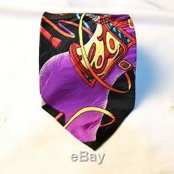 Rush Limbaugh Cravate De Cheval Bleue À Carrousel Multicolore, De La Collection No Boundaries