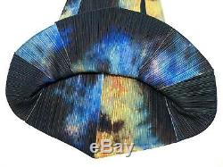 S'il Vous Plaît S'il Vous Plaît Issey Miyake Flare Jupe Longue Tie-dye Motif Multi-couleur Taille 5