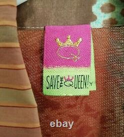 Save The Queen Women Art To Wear Top Blouse M Medium Made In Italy