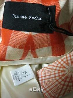 Simone Rocha Tomate Web De Bell Sergé En Taffetas Puff Manteau Robe Uk6 Louise Bourgeois