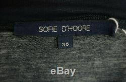 Sofie D'hoore Robe En Coton À Col Ras Du Cou Décontracté Multicolore En Coton Tie-dye 36