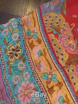 Sort & The Collective Gypsy Lotus Kimono Robe Taille L Orig. 260 $ Tn-o