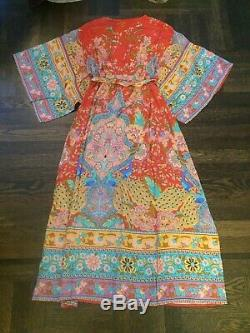 Sort & The Collective Gypsy Lotus Kimono Robe Taille S Orig. 260 $ Tn-o
