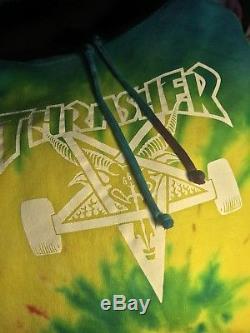 Sweat-shirt À Capuche Thrasher Tie 2010 Skate Tyler Le Créateur Très Rare Golf Wang Ofwgkta