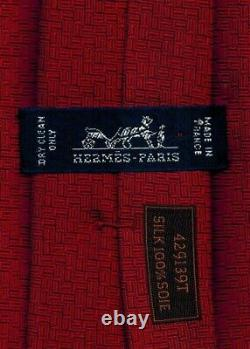 Sweet Hermes New Woven Silk Tie Rouge/bleu Madison Fireman Ltd Edition Ex Rare