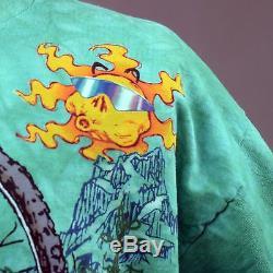 T-shirt Mort Gravé Dead Treads Bears Vtg Tie Dye 1995 Vert XL Fabriqué Aux Etats-unis
