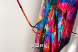 Thakoon Robe Imprimée Sans Manches À Torsades Torsadées À Motif Multicolore Pour Femme 8