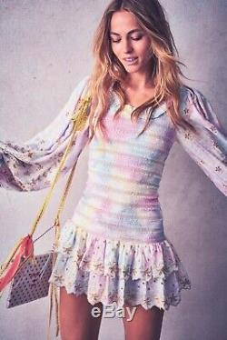 Tn-o Loveshackfancy Tie Dye Celia Ballon Manches Mini Sexy- Petit