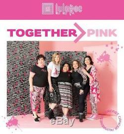 Tn-o Lularoe XL Amber Tie Noir Ruban Rose Dye Hoodie Sensibilisation Du Cancer Du Sein