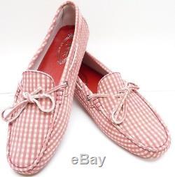 Tod's Gommino Tie Mocassins Pour Femmes Chaussures De Conduite En Cuir Taille 41/11