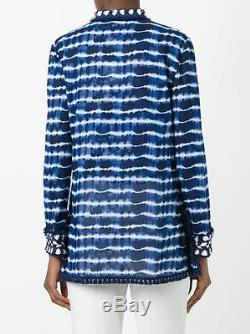 Tory Burch Tory Tunique Cravate Dye Bleu Coton 4 2017 Resort Xs S