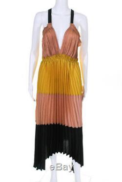 Ulla Johnson Femmes Plissés Gisella Maxi Robe Noire Nue Colorblock Taille 6