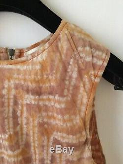 Ulla Johnson Indian Batik Tie-dye Plissées Coton Asymétrique Hem Robe M