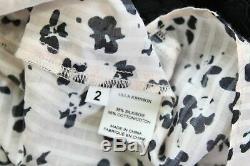 Ulla Johnson Lilian Fard À Joues Rose Floral Noir À Volants Cravate En Soie Chemisier Top Sz 2