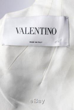 Valentino Pop Cravate À Col En Crêpe Imprimé Floral Robe Taille Italien 40