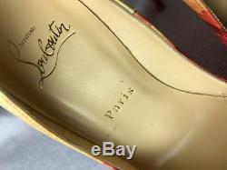 Vente Flash! Christian Louboutin So Kate Patent Tie Et Dye Pompes Euro 37.5