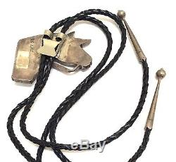 Vieux Pion Belle Zuni Argent Sterling Multi Color / Stone Inlay Bolo Tie