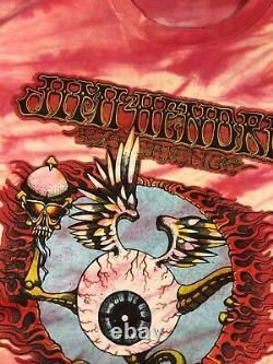 Vintage 1989 Rick Griffin Jimi Hendrix Tie Dye T-shirt Des Années 80 Eye Ball Vtg (rare)