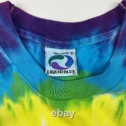 Vintage 1994 Les Rolling Stones Tie Dye Liquid Blue XL Tour Band T-shirt Rare