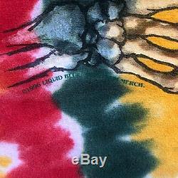 Vintage 1996 Lituanie De Basket-ball Tie Dye Shirt Grateful Dead Liquid Blue Grand