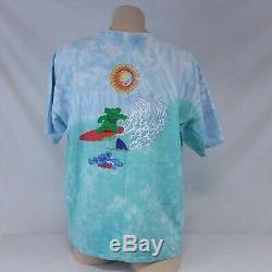 Vintage 1999 Grateful Dead T-shirt Tie Dye Surf Ours T 90 Visite De Concert XL