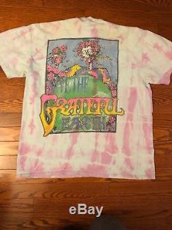 Vintage Des Années 1990 Grateful Dead Bart Simpson T-shirt Tie Dye Grateful Earth Taille XL