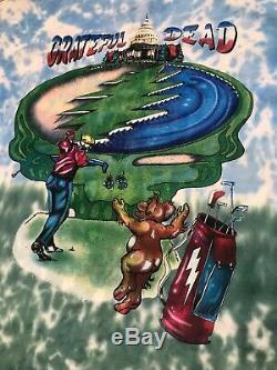 Vintage Grateful Dead 1994 Tournée De Bande T T-shirt Grand Point Unique Tie Dye Ds