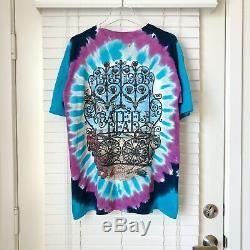 Vintage Grateful Dead 30 Ans 1965-1995 90 Vtg Tie Colorant Liquide Bleu T-shirt L
